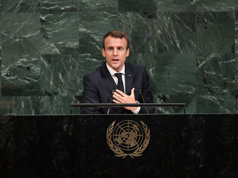 One Year On Macron Returns To The Un With Ambitions Curtailed Bloomberg