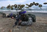 South Korean Marines during a joint military drill with US forces in April 2017.