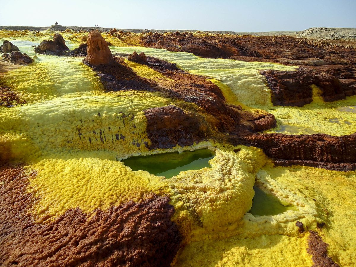 Bizarre land formations on the Dallol Volcano