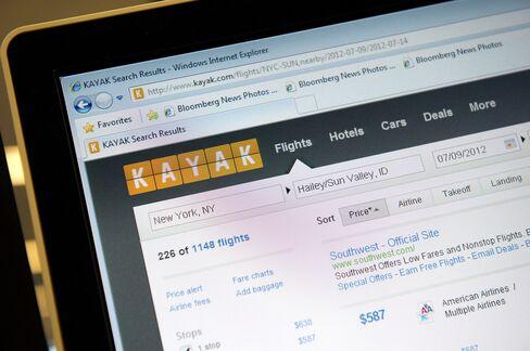 Priceline to Purchase Web-Travel Site Kayak for $1.8 Billion