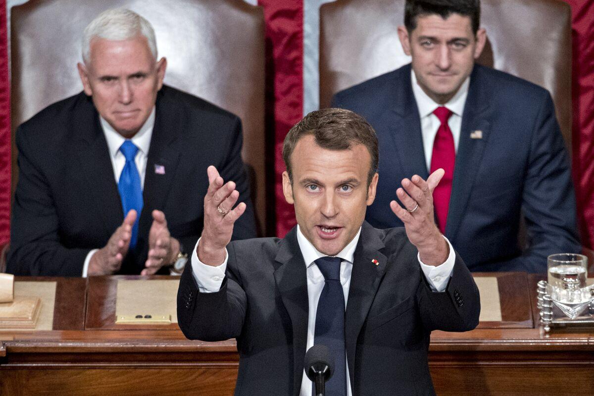Macron Tells US Turning Its Back on World Is Bigger Risk