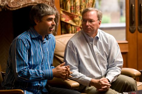 Google's Larry Page and Eric Schmidt