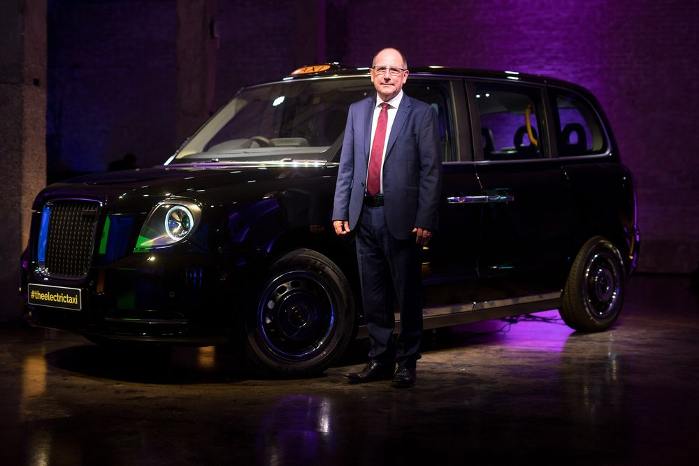 London Ev Co Ceo Chris Gubbey And The New Tx Electric Black Taxi
