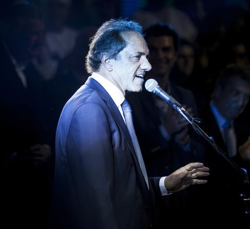 Presidential Candidate Daniel Scioli Holds Final Campaign Rally Before Election