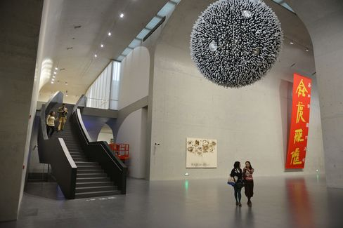 A view of the Long Museum West Bund in Shanghai, on March 29, 2014.