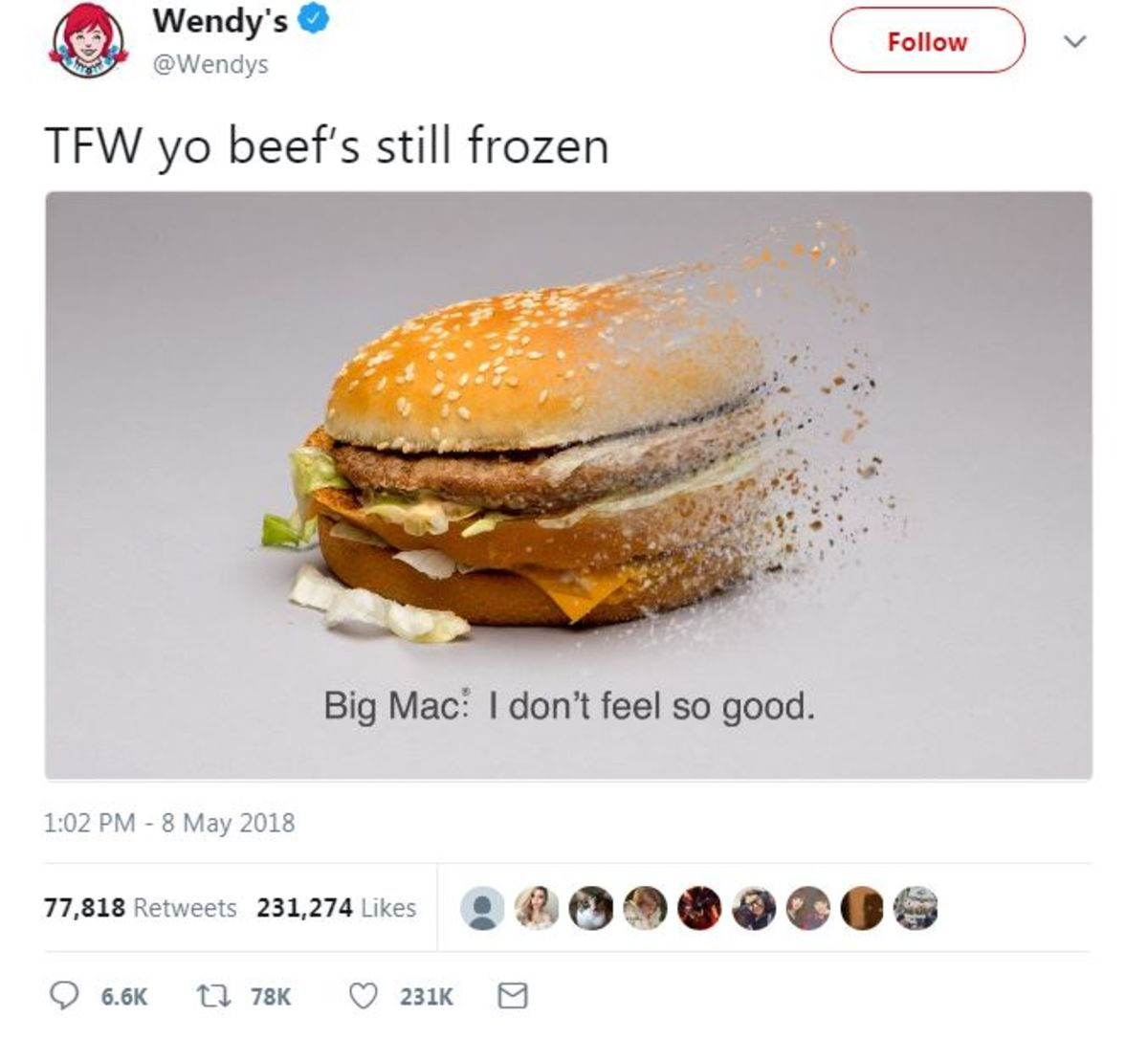 wendy s taunts yo beef s still frozen in twitter burger battle
