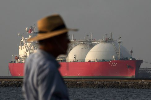 LNG Tankers Images As Japan Releases Trade Number