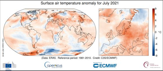 Third Hottest July Ever Shows How Even Modest Global Warming Looks