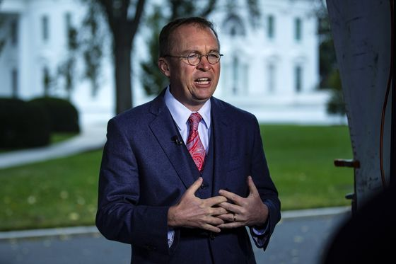 Mulvaney Joins Trump Pushing Fed to Rethink Rate Hike Strategy
