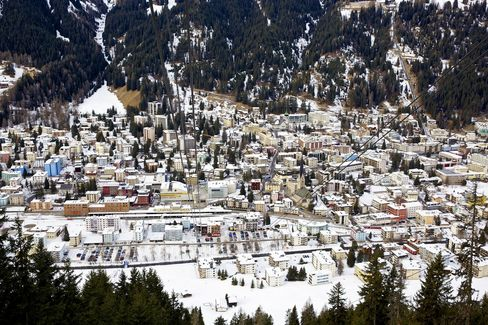 Snow-covered Buildings in Davos