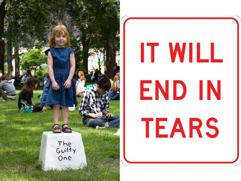 (From left) Miranda July, Eleven Heavy Things, 2009; Anthony Discenza, END IN TEARS, 2010