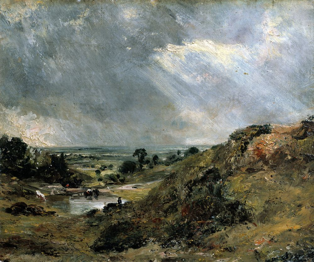 'Hampstead Heath, Branch Hill Pond' by John Constable.