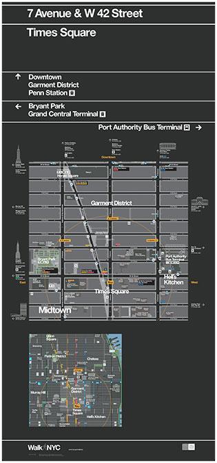 Street-level map