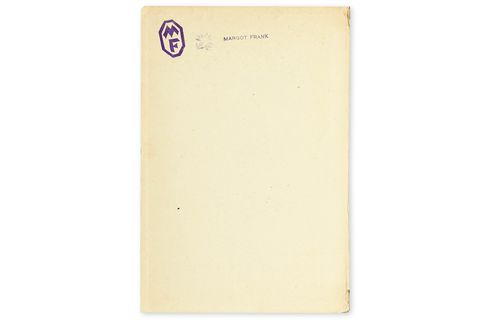The title page with Margot Frank's stamp.