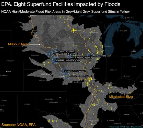 Midwest Floods Have Reached Superfund Sites in Three States, EPA Says