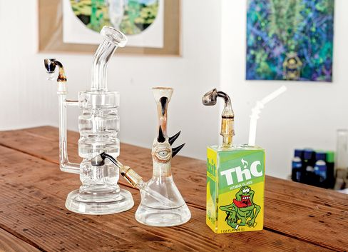 An assortment of dab rigs.