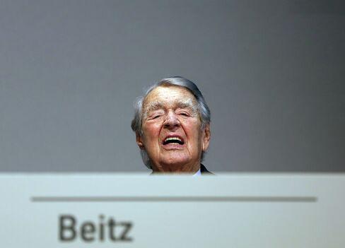 ThyssenKrupp AG Honorary Chairman Berthold Beitz