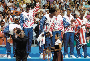 Summer 1992: The Dream Team, the first U.S. Olympic men's basketball team to field professional players, dominates the competition in Barcelona