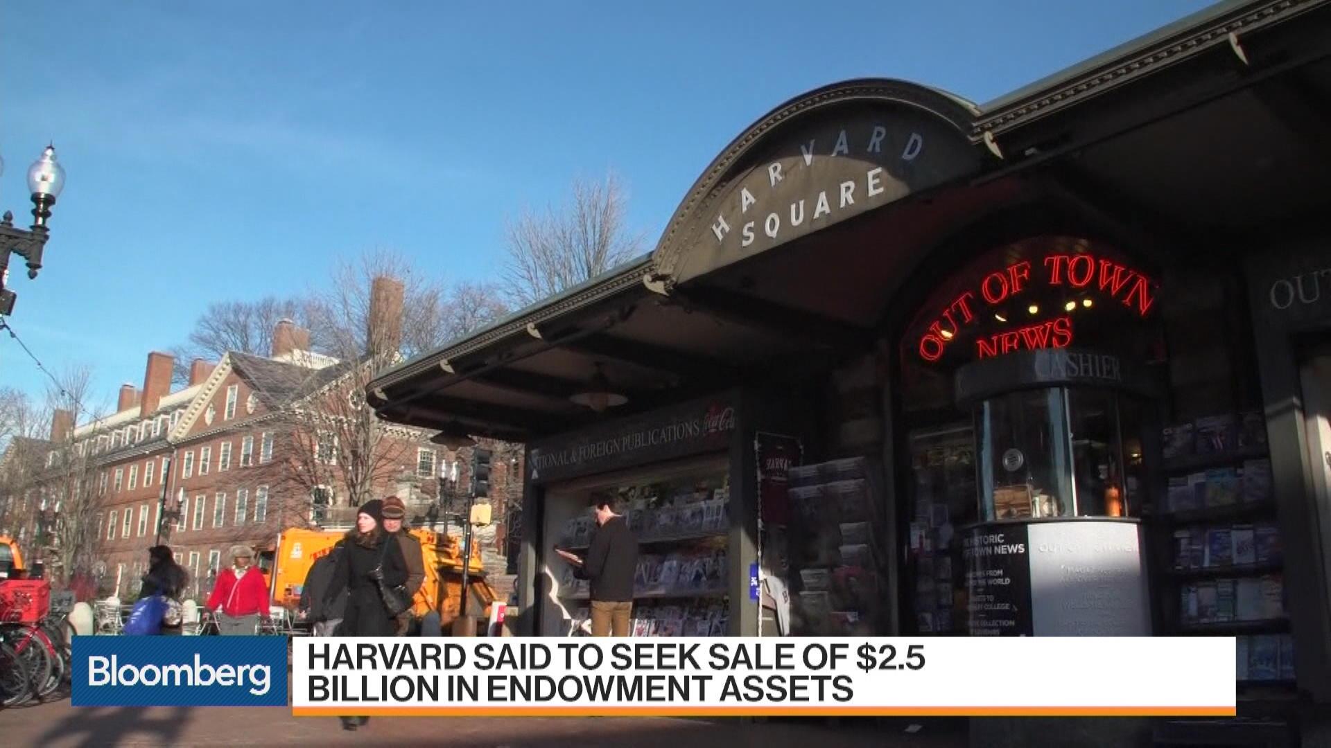 Harvard Said to Seek Sale of $2.5B in Endowment Assets