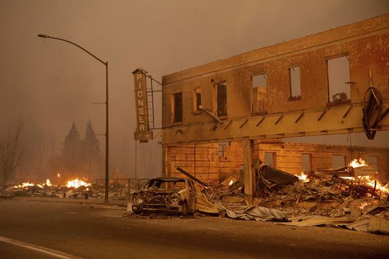 Wildfire Linked to PG&E Ravages California Gold-Rush Town