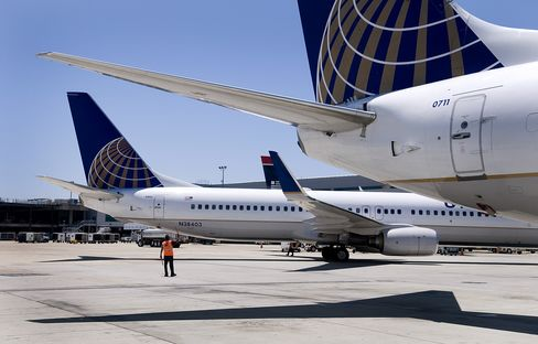 Airlines Head for Longest Drop Since '10 as United Misses Views