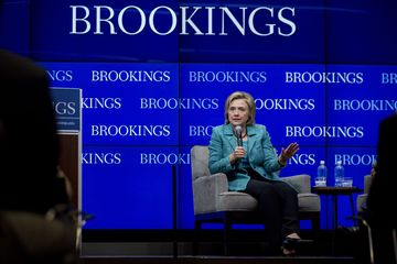 Hillary clinton speaks on iran nuclear deal at brookings institution