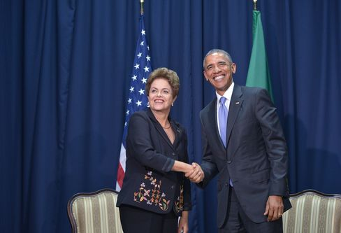 Dilma Rousseff And Barack Obama