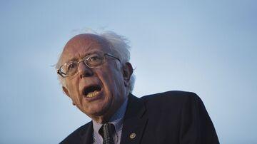 Senator Bernie Sanders speaks in New York on April 18, 2016.