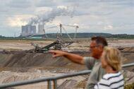 Open cast lignite mining near the village of Poedelwitz.
