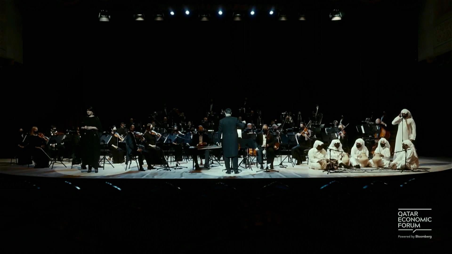 Qatar Philharmonic Orchestra Performs at Qatar Economic Forum