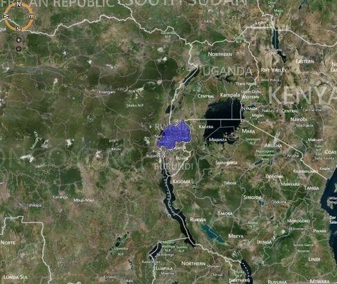 MAP: Rwanda