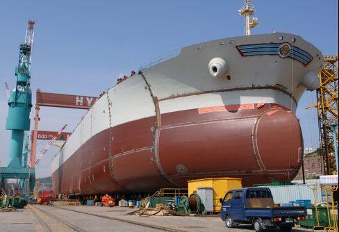 The Hyundai Heavy Industries Co. Shipyard