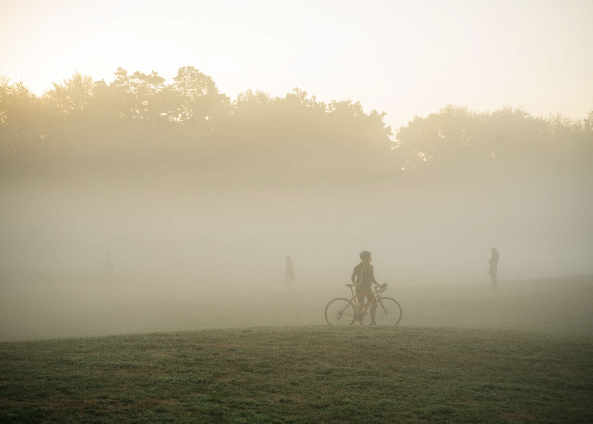 Photographing Morning Fog at Prospect Park