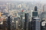 Aerials Of The Lion City As Gross Domestic Product Contracts Most Since 2012