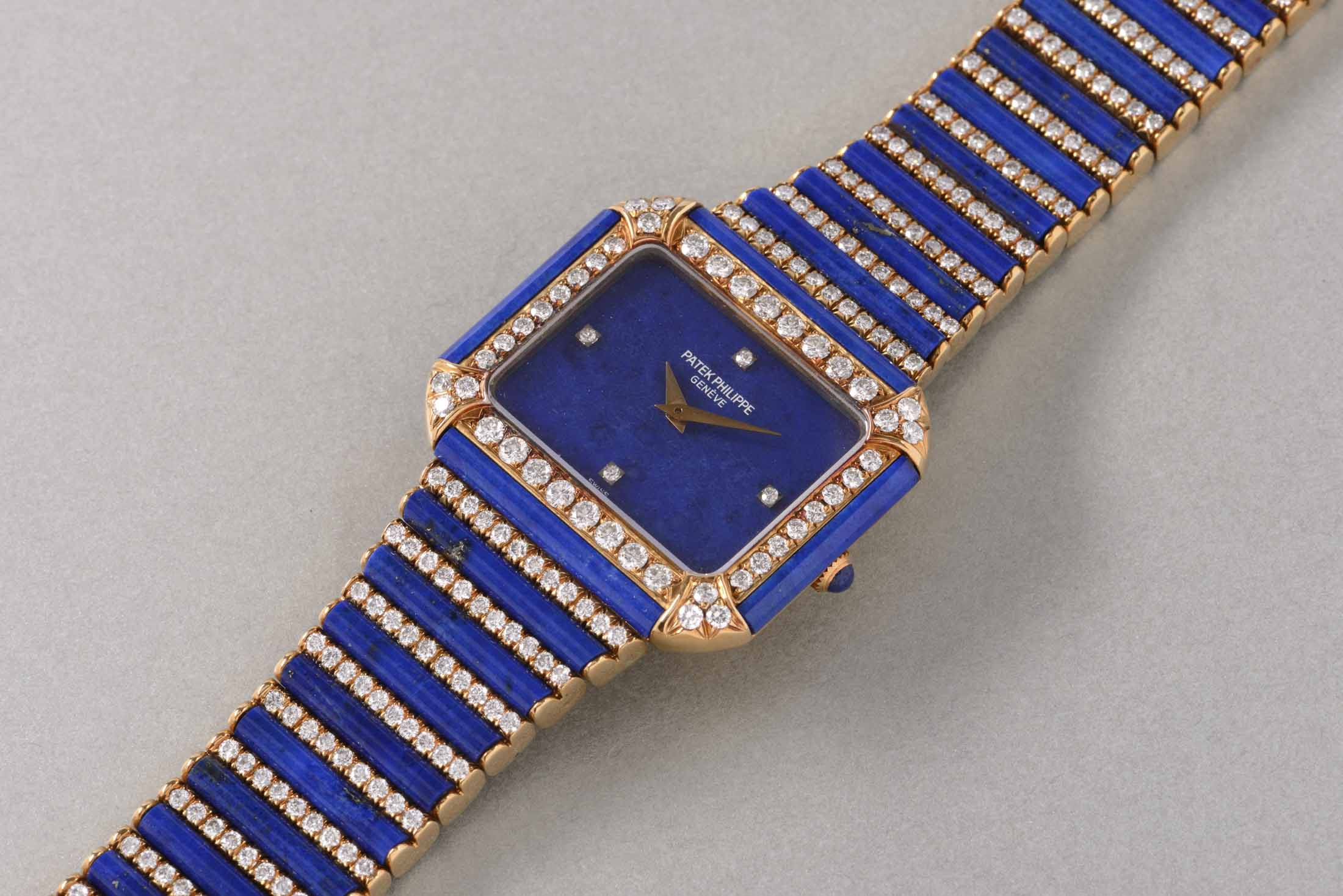 Patek Philippe Lady's Lapis Lazuli Wristwatch
