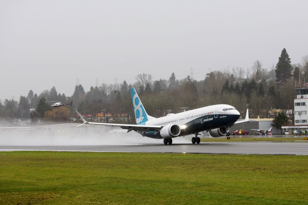 First Flight Of The Boeing Co. Max 737 Jet