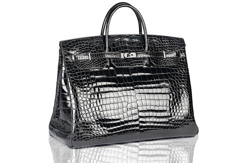 Black crocodile Hermes Birkin bag