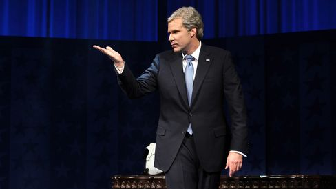 "Will Ferrell appears during the opening night of ""You're Welcome America: A Final Night with George W. Bush"" on Feb. 5, 2009, in New York City."