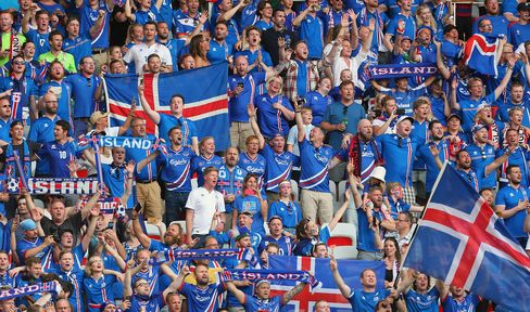 Iceland fans during the European Championship.