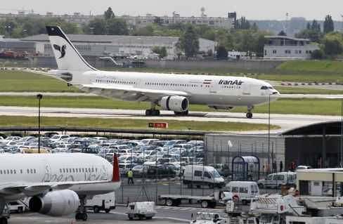 An Iran Air plane