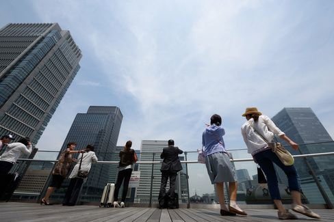 General Images of Tokyo's Business District Ahead Of PPI Figures