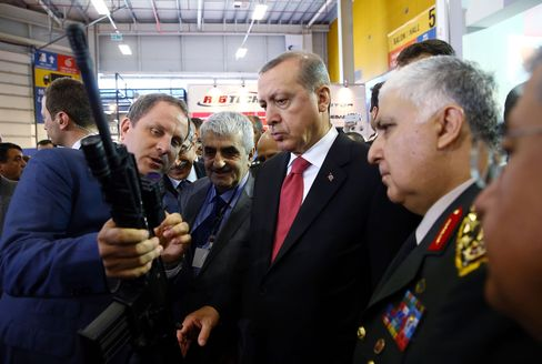 Erdogan last appeared at a voting booth in Istanbul on Sunday, and has since been holed up in his 1,150-room palace in Ankara