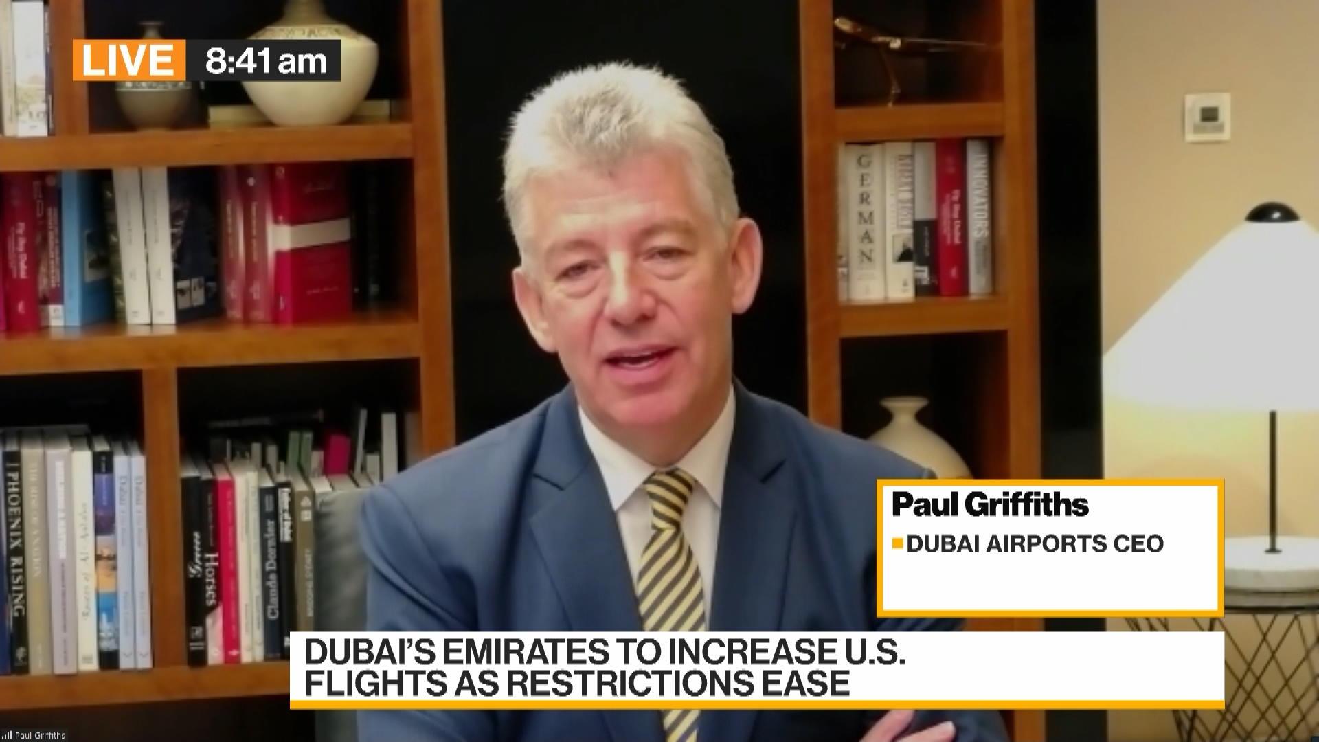 Dubai Airports CEO: 'Massive Impact' From U.K. Travel Easing