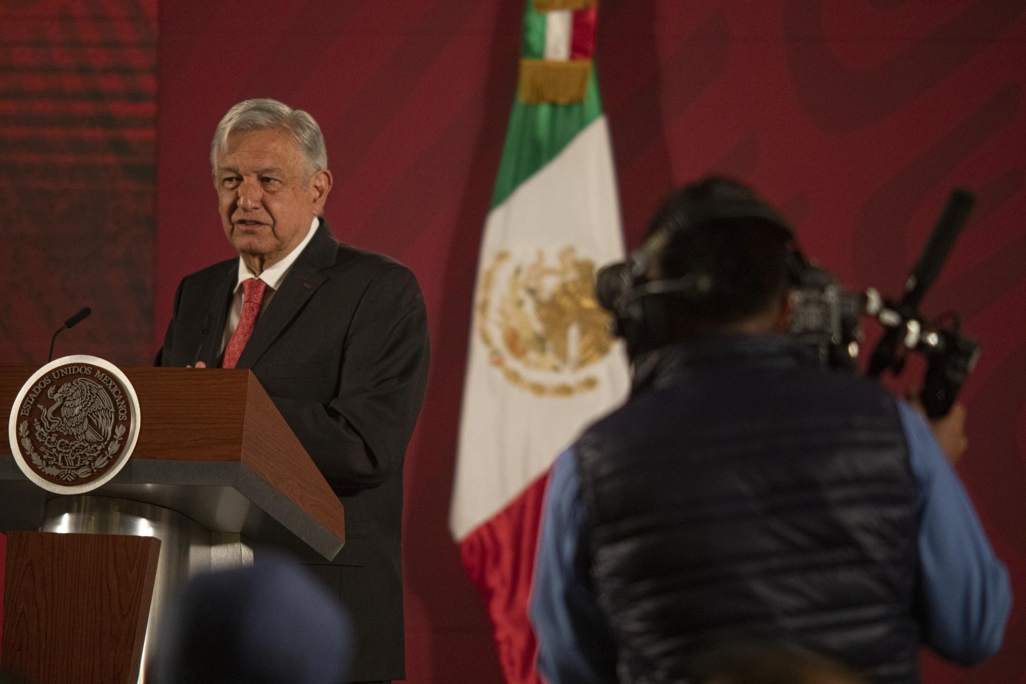 Andres Manuel Lopez Obrador berbicara di Mexico City pada 17 Maret.