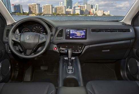 Call it retro: the HR-V can be had with a stick shift.