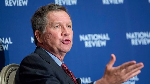 Ohio Governor John Kasich speaks at the National Review Institute 2015 Ideas Summit in Washington on May 1, 2015.