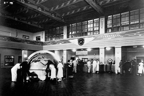 Pan American Airways terminal building in Miami in 1940.