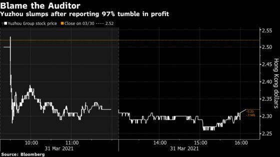 China Developer Blames 'Strict' Auditor for Profit Plunge