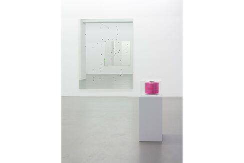 "Installation view, Alberto Garutti, ""Là, Ora,"" Buchmann Galerie, Berlin"