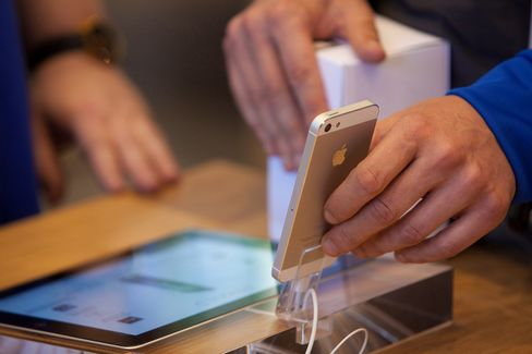 An Apple Inc. iPhone 5 is seen in Berlin